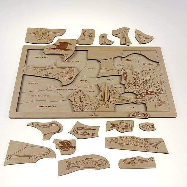 Ocean wooden puzzle - jiminy eco-toys