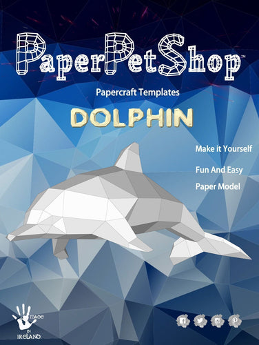 Paper Pet Kit: Dolphin - made in Ireland - jiminy eco-toys