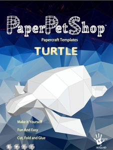 Paper Pet Kit: Sea Turtle - made in Ireland - jiminy eco-toys