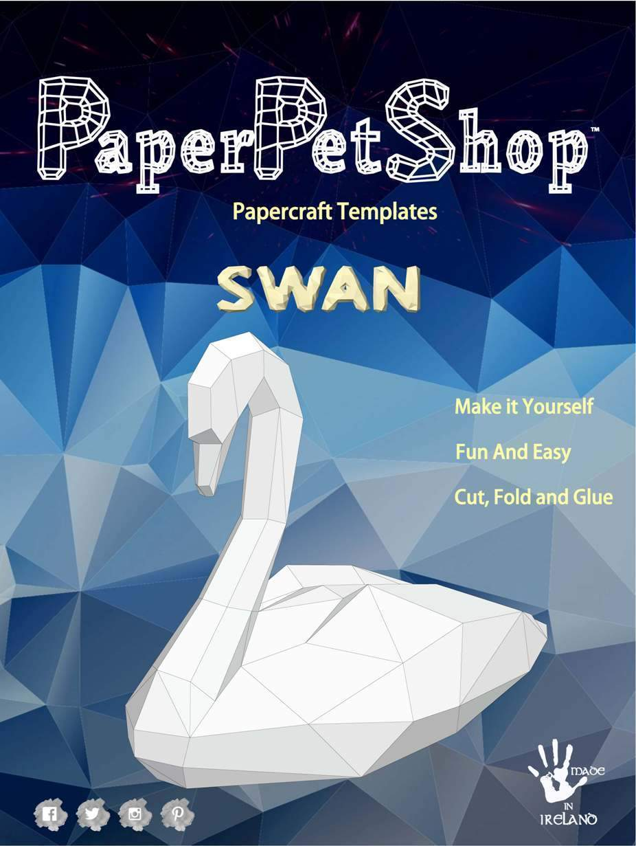 Paper Pet Kit: Swan - made in Ireland - jiminy eco-toys