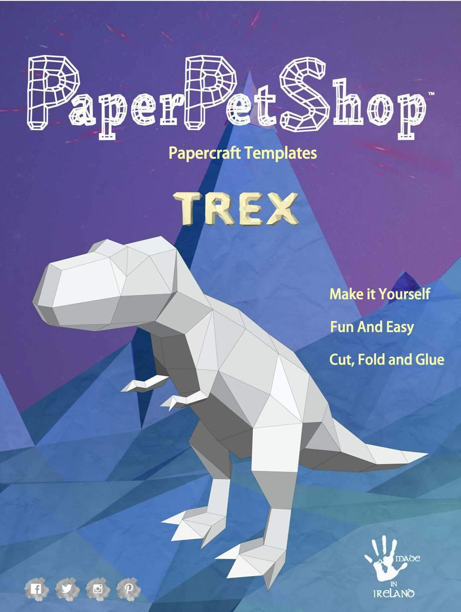 Paper Pet Kit: T-Rex - made in Ireland - jiminy eco-toys