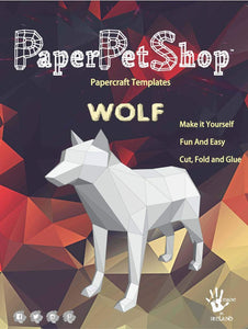 Paper Pet Kit: Wolf - made in Ireland - jiminy eco-toys