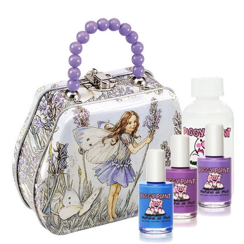Piggy Paint Gorgeous Gift Tin with 4 items - Flower Fairies Medium Handbag - jiminy eco-toys