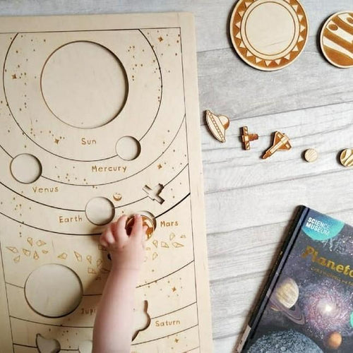 Planets wooden puzzle - jiminy eco-toys