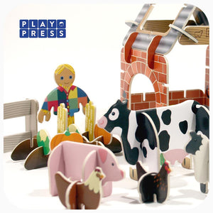 Playpress Farmyard build and play set - jiminy eco-toys