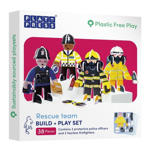 Playpress Rescue Team build and play set - jiminy eco-toys