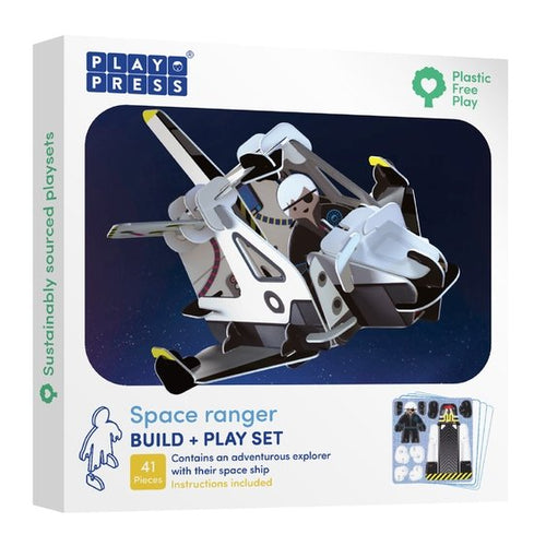 Playpress Space Ranger build and play set - jiminy eco-toys