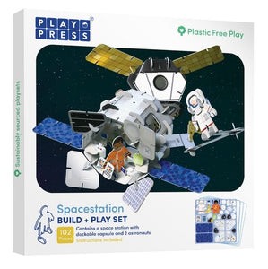 Playpress Space Station build and play set - jiminy eco-toys