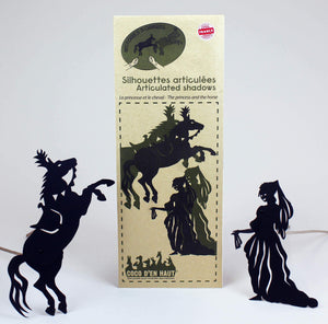Coco d'en Haut articulated shadows: princess and horse pouch