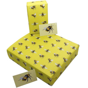 Recycled and recyclable gift wrapping sets - 3 sheets, 3 matching tags - jiminy eco-toys