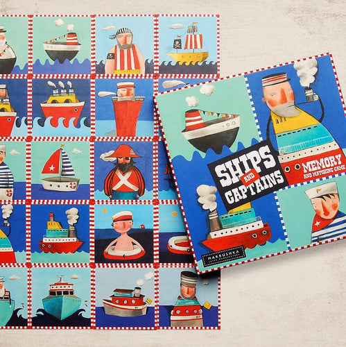Ships And Captains - a memory game for ages 3+ - jiminy eco-toys