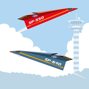 Sophie et Martin papercraft kit: speed airplanes - jiminy eco-toys
