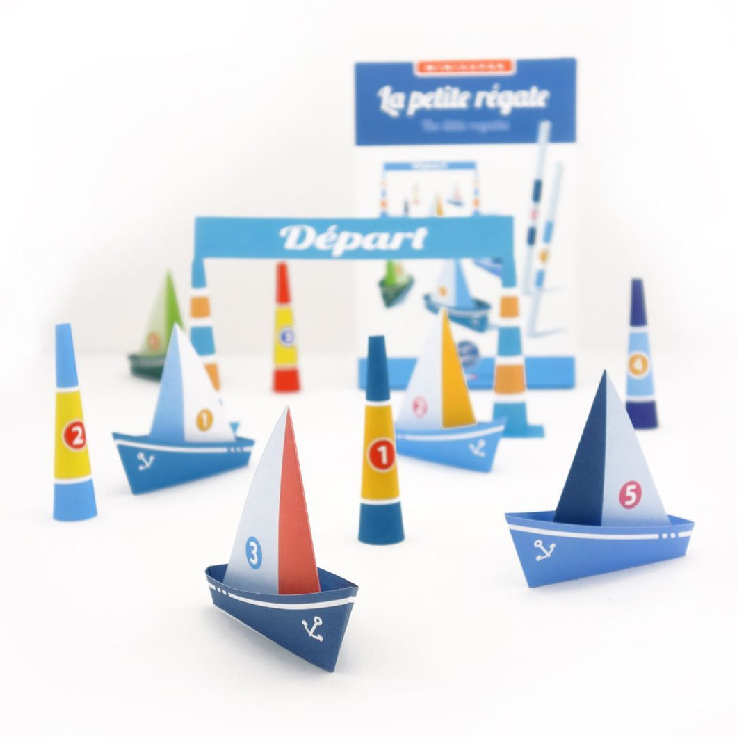 Sophie et Martin papercraft kit: the little regatta - jiminy eco-toys