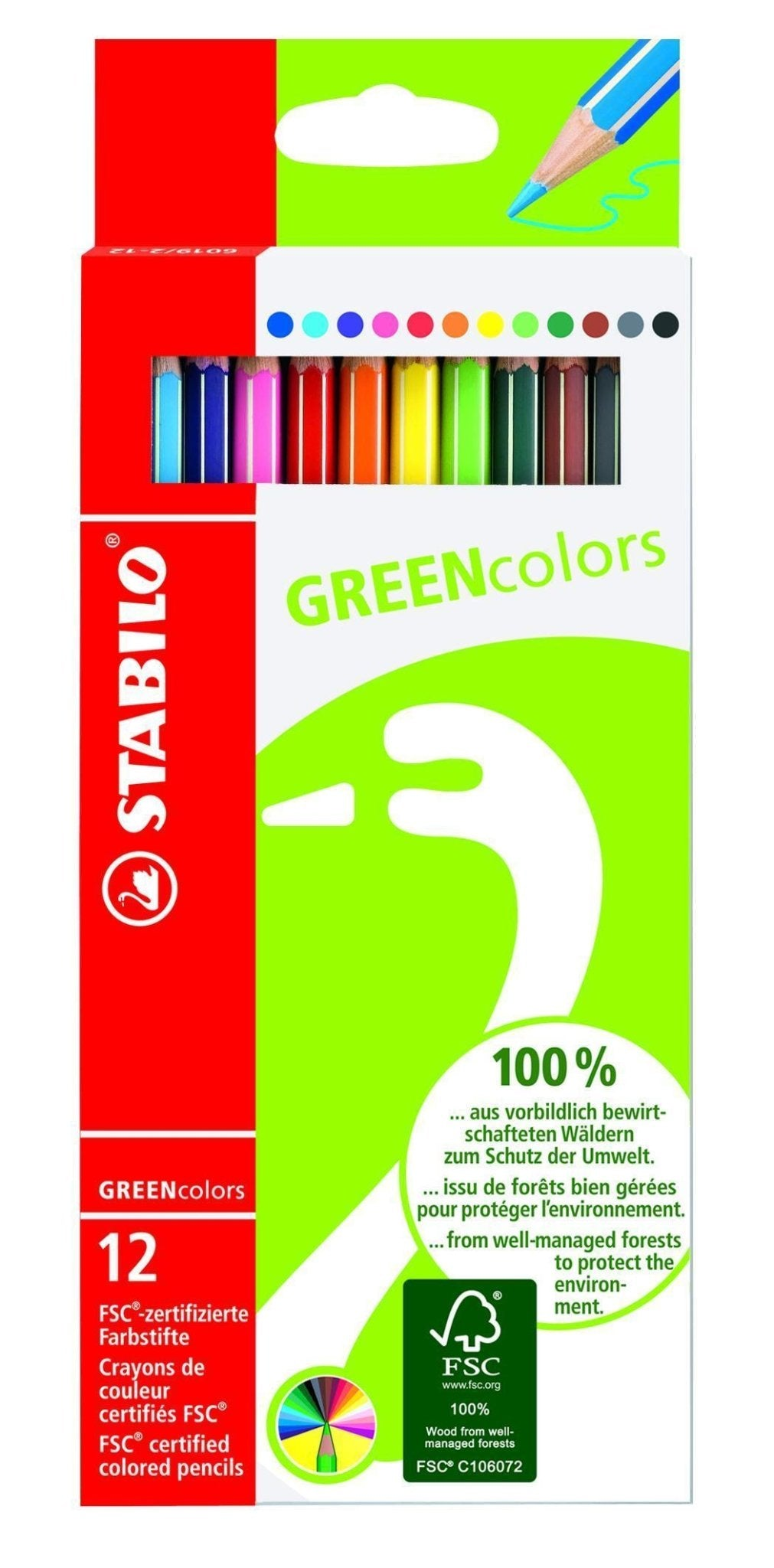 Stabilo GREENcolours eco colouring pencils - jiminy eco-toys