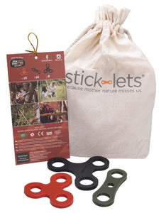 STICK-LETS fort-building silicone connectors - with 1 tree planted - jiminy eco-toys