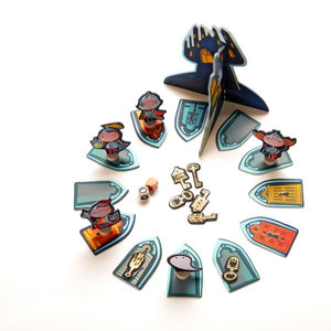 The Ghost and the Golden Keys - a cooperation board game for 1-4 players age 5+ - jiminy eco-toys