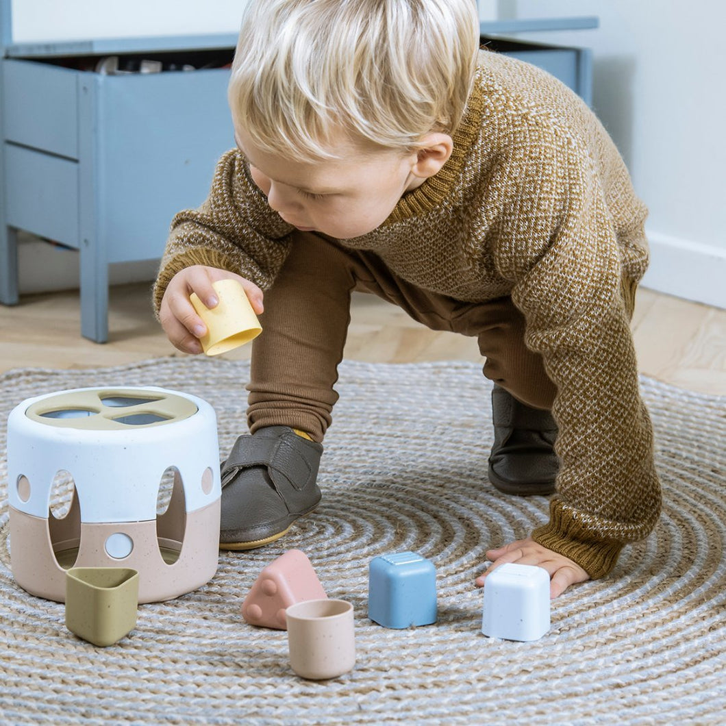Tiny Bioplastic Shape Sorter - from age 10 months - jiminy eco-toys