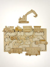 Load image into Gallery viewer, Vehicles wooden puzzle - jiminy eco-toys