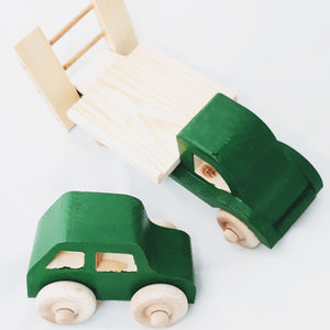 Wooden Irish Recovery Truck with Car - jiminy eco-toys