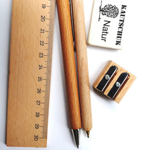 Wooden ruler 30 cm long - jiminy eco-toys