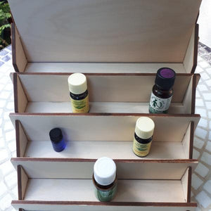Wooden tiered display for nail polish / essential oils / LEGO minifigures - jiminy eco-toys