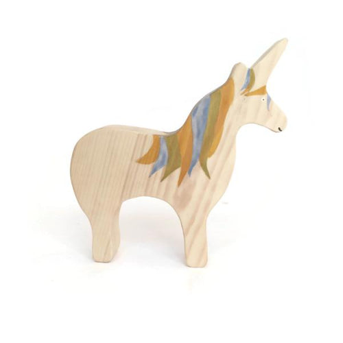 Wooden toy handmade in Europe - unicorn - FOR DELIVERY MID-NOVEMBER - jiminy eco-toys