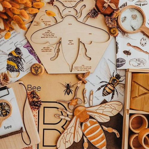 Worker bee wooden puzzle - jiminy eco-toys