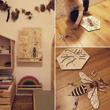 Load image into Gallery viewer, Worker bee wooden puzzle - jiminy eco-toys
