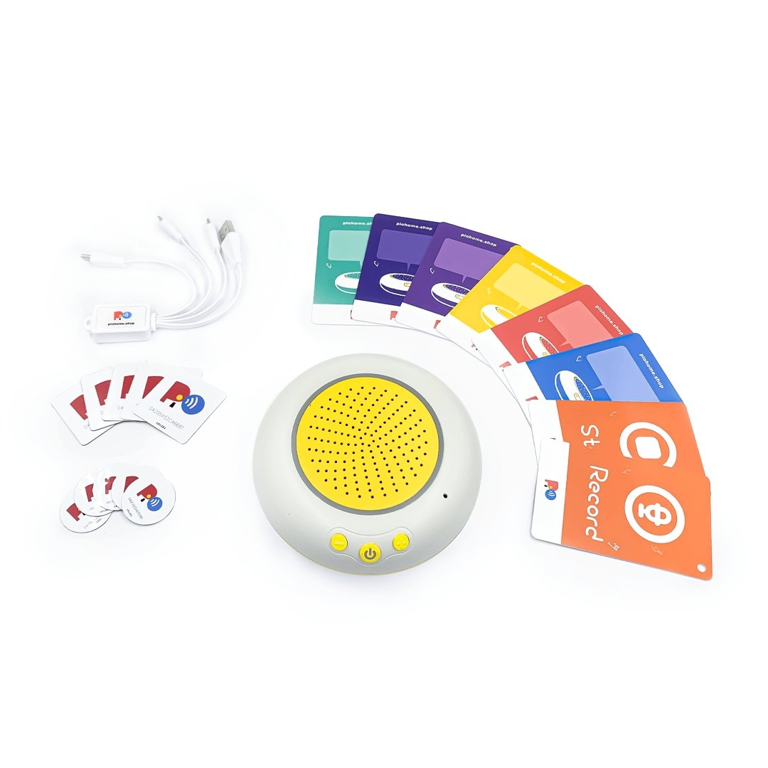 [Kit] PiO One Smart Audio Player bundles with Audible Cards and Stickers. Limited Quantity Available! - PiO Home