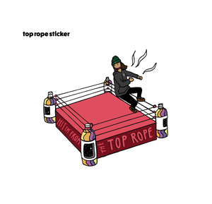 40 oz Top Rope Sticker