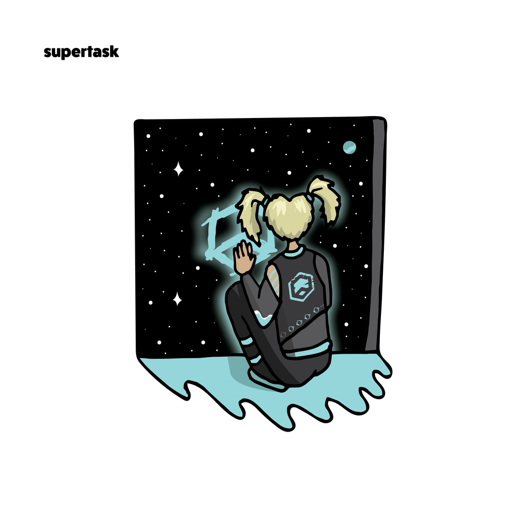 Supertask Sticker