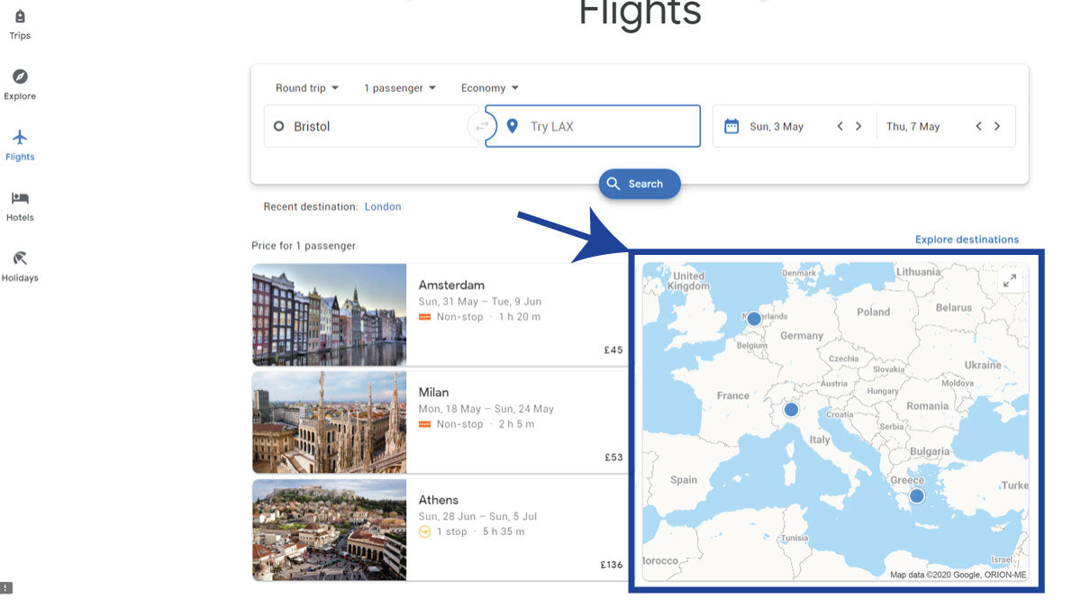 Find Cheap Airline Tickets with Google Flights