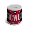 CWL - Cardiff Airport Ceramic Money Box