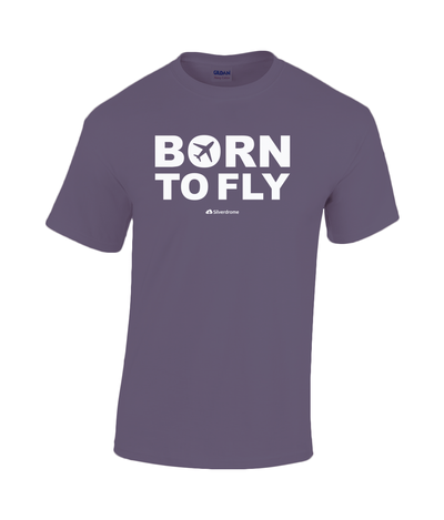 Gildan Heavy Cotton T-Shirt Born to Fly Tshirt Master White-01