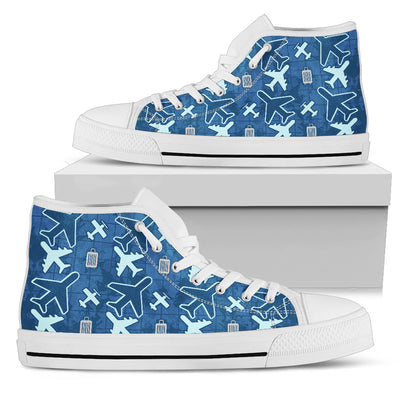 aviation themed high top sneakers