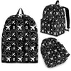 Black Flying Icons Backpack