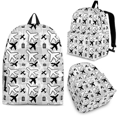 White Flying Icons Backpack