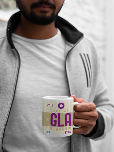 GLA - Glasgow Airport - Coffee Mug - Glasgow, United Kingdom