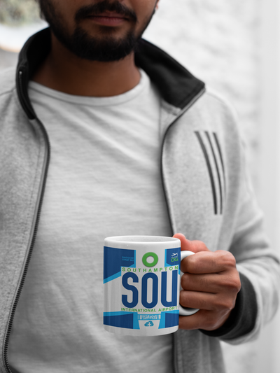 SOU - Southampton Airport - Coffee Mug - Southampton, United Kingdom