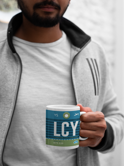 LCY - London City Airport - Coffee Mug - London, United Kingdom