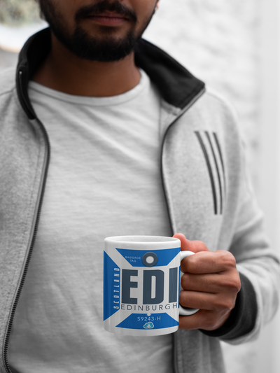 EDI- Edinburgh Airport - Coffee Mug - Edinburgh, United Kingdom