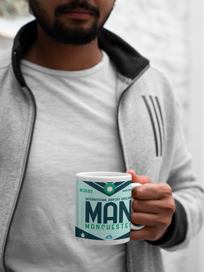 MAN - Manchester Airport - Coffee Mug - Manchester, United Kingdom