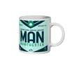 Manchester Airport - MAN - Coffee Mug - Manchester, United Kingdom