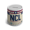 NCL - Newcastle Airport Ceramic Money Box