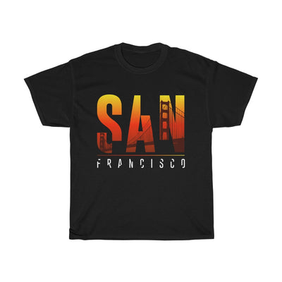 San Francisco Sunset - Unisex Heavy Cotton Tshirt