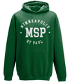 MSP Minneapolis St Paul Airport Hoodie in white print