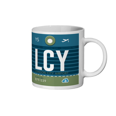 London City Airport - LCY - Coffee Mug - London, United Kingdom