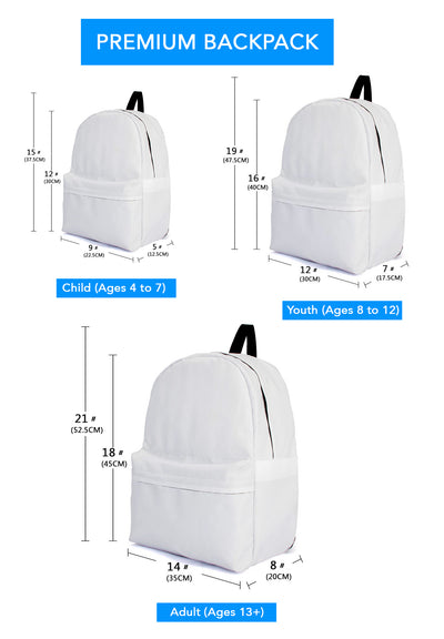 Blue Flying Icons Backpack