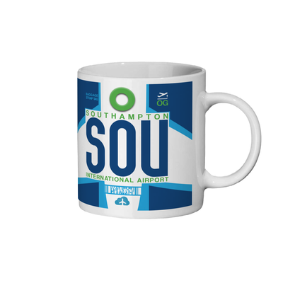 Southampton Airport - SOU - Coffee Mug - Southampton, United Kingdom
