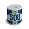 SOU - Southampton Airport Ceramic Money Box